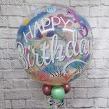"Helium-Ballon ""Happy Birthday Meerjungfrau"" Bubbles, ca. 45cm Ø"