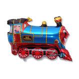 """Folienballon """"Lokomotive Zug"""" ca. 70 cm h x 80 cm breit unbefüllt"""