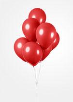 Latex - Luftballons, ca. 30cm Durchmesser, rot, 50 Stck.