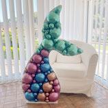 """Ballon-Mosaik-Rahmen für Ballondekoration - """"Meerjungfrau""""  - ca. 70cm breit x  120 cm hoch"""