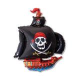 "Folienballon ""Piratenschiff mit Totenkopf"" ca. 78cm h x 105 cm breit unbefüllt"