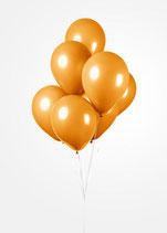 Globos Luftballons, ca. 30cm Durchmesser, orange, 50 Stck.