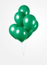 Latex - Luftballons -  ca. 30cm Durchmesser, dunkelgruen, 50 Stck.