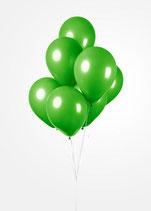 Latex - Luftballons -  ca. 30cm Durchmesser, waldgrün, 50 Stck.