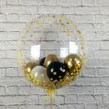 Heliumballon Bubble zum Geburtstag verschiedene Motive ca. 55cm Ø