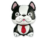 "Folienballon ""Hund Bulldogge-brau-schwarz- ca. 80cm hoch"