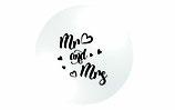 Mr & Mrs. Rieseballon - 2seitig bedruckt - 90cm Ø-  weiß - 100% Latex- unbefüllt