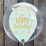 "Helium-Ballon Happy Birthday ""Seifenblase grün"", ca. 40cm Ø"