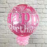 "Helium-Ballon ""Happy Birthday"" Bubbles pink, ca. 45cm Ø"