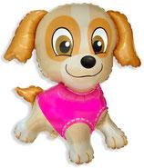"""Folienballon """"Hund -pink -rosa- ca. 80cm hoch"""