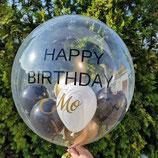 Helium-Ballon Happy Birthday - mit personalisiertem Text, ca. 55cm Ø
