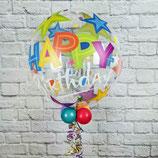 "Helium-Ballon ""Happy Birthday Sterne"" bunt, ca. 45cm Ø"