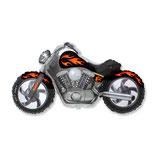 """Folienballon """"Motorrad Custombike"""" ca. 75cm hoch"""