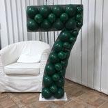 """Mosaik-Rahmen für Ballondekoration - Zahl """"7""""  - ca. 120cm hoch"""