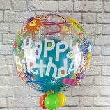 "Helium-Ballon Happy Birthday befüllt ""Luftschlangen & Kerzen"", ca. 45cm Ø"