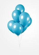 Latex - Luftballons - ca. 30cm Durchmesser, ocean blue, 50 Stck.