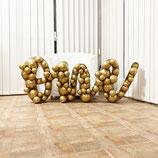 """Ballon-Mosaik-Rahmen für Ballondekoration - """"One"""" -Schriftzug  - ca. 150cm breit x  97 cm hoch"""