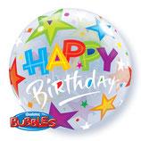 "Helium-befüllter Ballon Happy Birthday ""Sterne"""