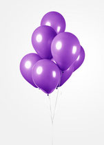 Latex - Luftballons -  ca. 30cm Durchmesser, violett - lila, 50 Stck.