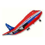 """Folienballon """"Flugzeug Passagiermaschine"""" ca. 52 cm h x 100 cm breit unbefüllt"""