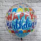 "Helium-Ballon ""Happy Birthday Banner""  Orbz bunt, ca. 45cm Ø"