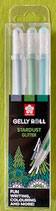 Gelly Roll Stardust Glitter 3er Pack Grün