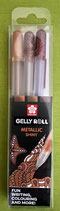 Gelly Roll 3er metallic Set nature