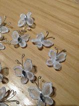 Weisse Schmetterlinge für Hochzeits DEKO