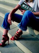 Jeans Sinty Cropped Fringe