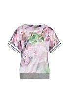 Shirt mit Hortensiendruck auf Satinqualität von Sportalm