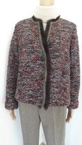 Tweed Kurzblazer mit Fell von RIANI Gr. 42