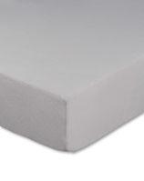 Jersey Spannbettlaken in Farbe silber, 4 Größen zur Auswahl