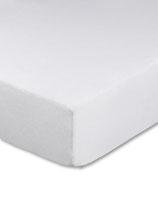 Kinderbetten-Spannbetttuch in weiß