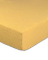 Kinderbetten-Spannbetttuch in maisgelb
