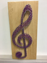 String-art muzieksleutel