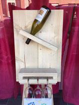 Wijnplank two bottles
