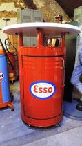 Esso Tankstellen Design Stehtisch auf Rollen inkl. Staufach.