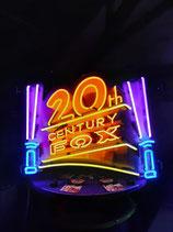 US Neon Werbung 20th Century Fox Neonreklame Leuchtschild TV Privat Kino