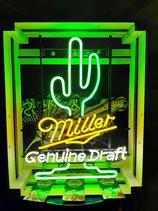 Miller Kaktus US Neon Licht Gastro Bier Werbung Amerika Kult Deko Neonreklame