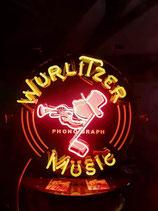 Wurlitzer Neon Werbung Leuchtschild Phonograph Reklame Jukebox Musicbox