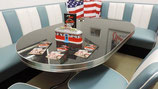 Diner-Tisch (1 Stück) Modell TO-26  Modellbeispiel (Blackstone)