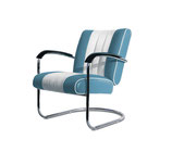 1 Diner Lounge Sessel LC-01 (blau)