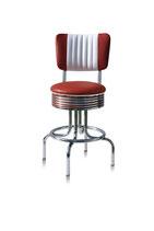 1 Diner-Barhocker BS-28-66CB ruby
