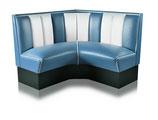 1 Diner-Eckbank HW-120/120 blau