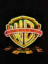 Warner Brother`s USA Neon Film Leuchtreklame Werbung TV Licht Schild