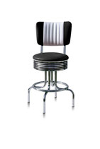 1 Diner-Barhocker BS-28-66CB black
