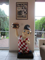"Big Boy ""mit Hamburger""  GFK Figur"