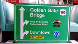 San Francisco Interstate/Highway Schild USA Fans Gastronomie Deko Partyraum