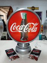 Coca Cola Globe/Lampe Aluminium Amerika Deko Objekt Halle Coke Artikel
