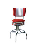 1 Diner-Barhocker BS-28-66CB red